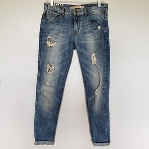 Zara Trafaluc Premium Wash destroyed slim jeans